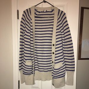 A heavy knitted cardigan